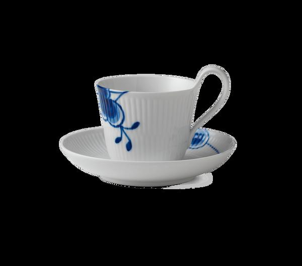 Bilde av Blå Mega Riflet kopp med høy