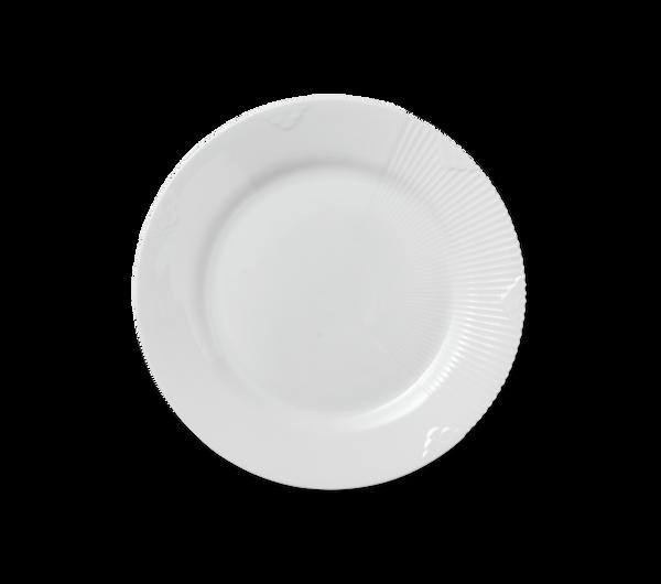 Bilde av Hvit Elements tallerken 22 cm