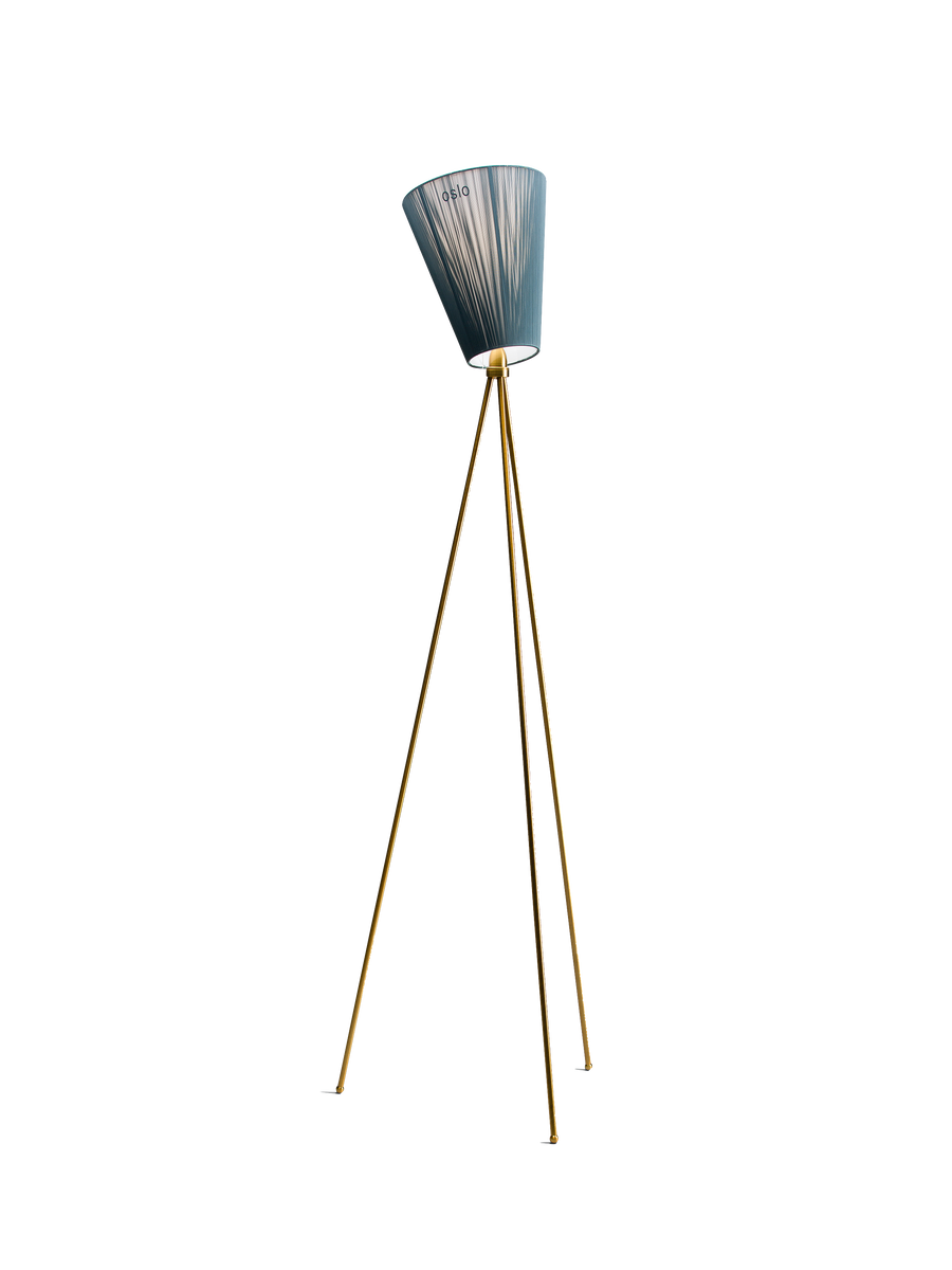 Oslo Wood gulvlampe blå / hvit Northern
