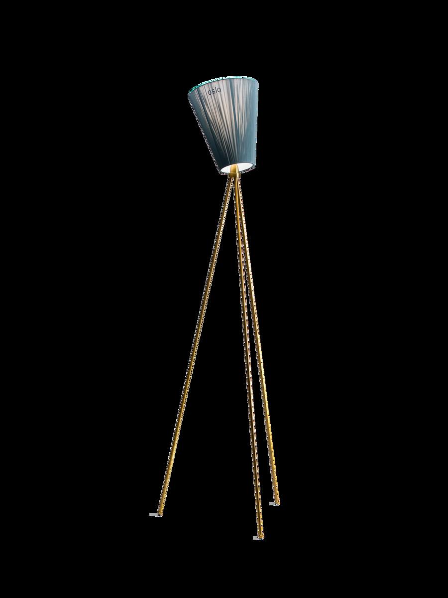 Oslo Wood gulvlampe beige / stål Northern