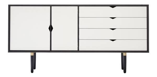 Bilde av S6 Sort lakk - hvite fronter