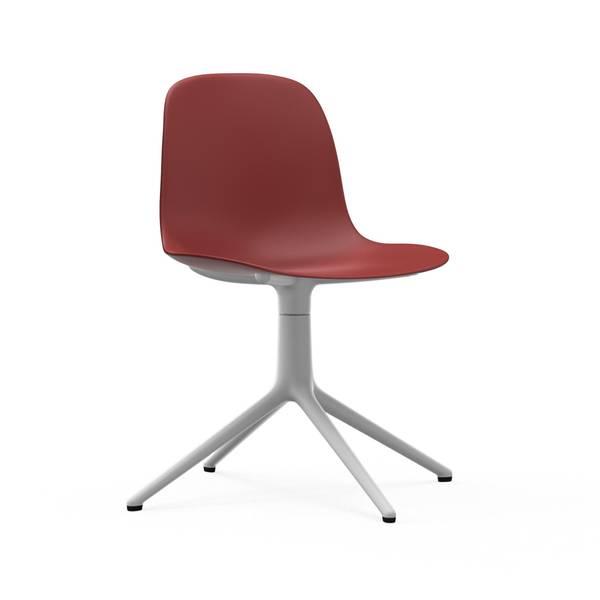 Bilde av Form Stol Dreibar 4L Rød/Hvit