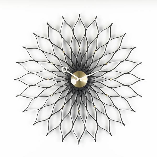 Bilde av Sunflower Clock sort Vitra