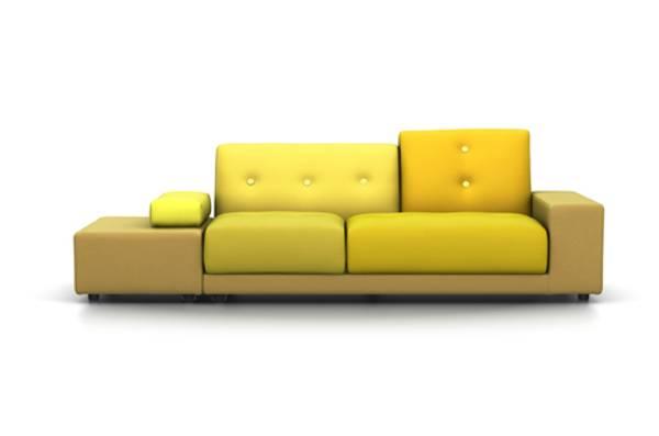 Bilde av Polder sofa gylden gul