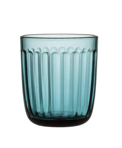 Bilde av Raami glass 26cl sjøblå 2-pk