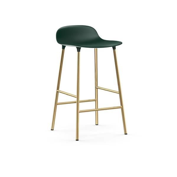 Bilde av Form Barstol 65 Grønn/Messing