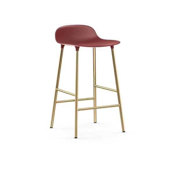 Bilde av Form Barstol 65 Rød/Messing