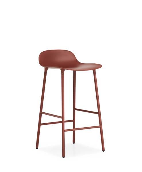 Bilde av Form Barstol 65 Rød/Stål