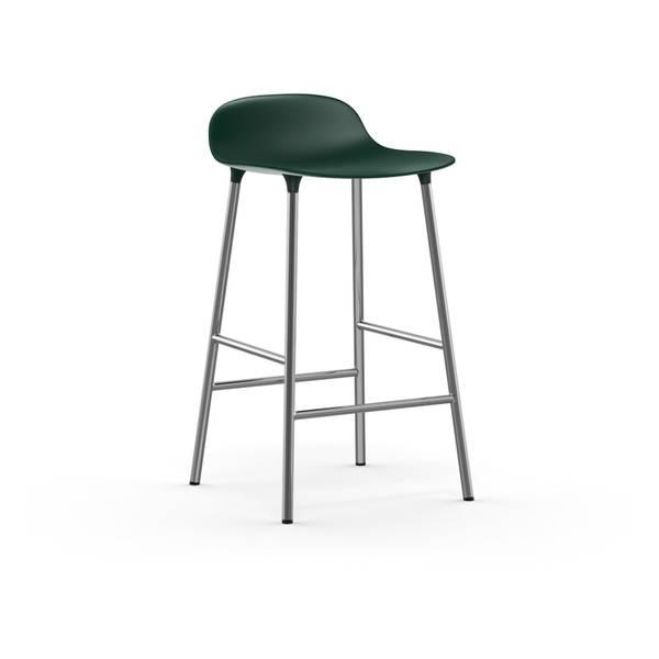 Bilde av Form Barstol 65 Grønn/Krom