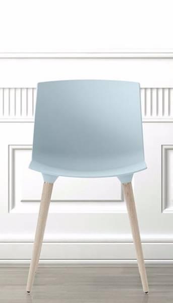 Bilde av TAC matt isblå plast eik