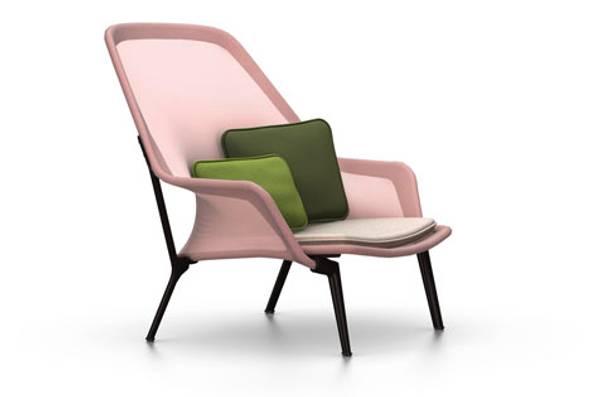 Bilde av Slow Chair Rosa/brun Vitra