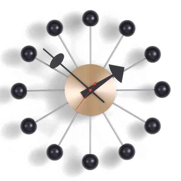 Bilde av Ball Clock sort/ messing