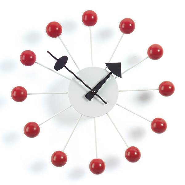 Bilde av Ball Clock rød Vitra