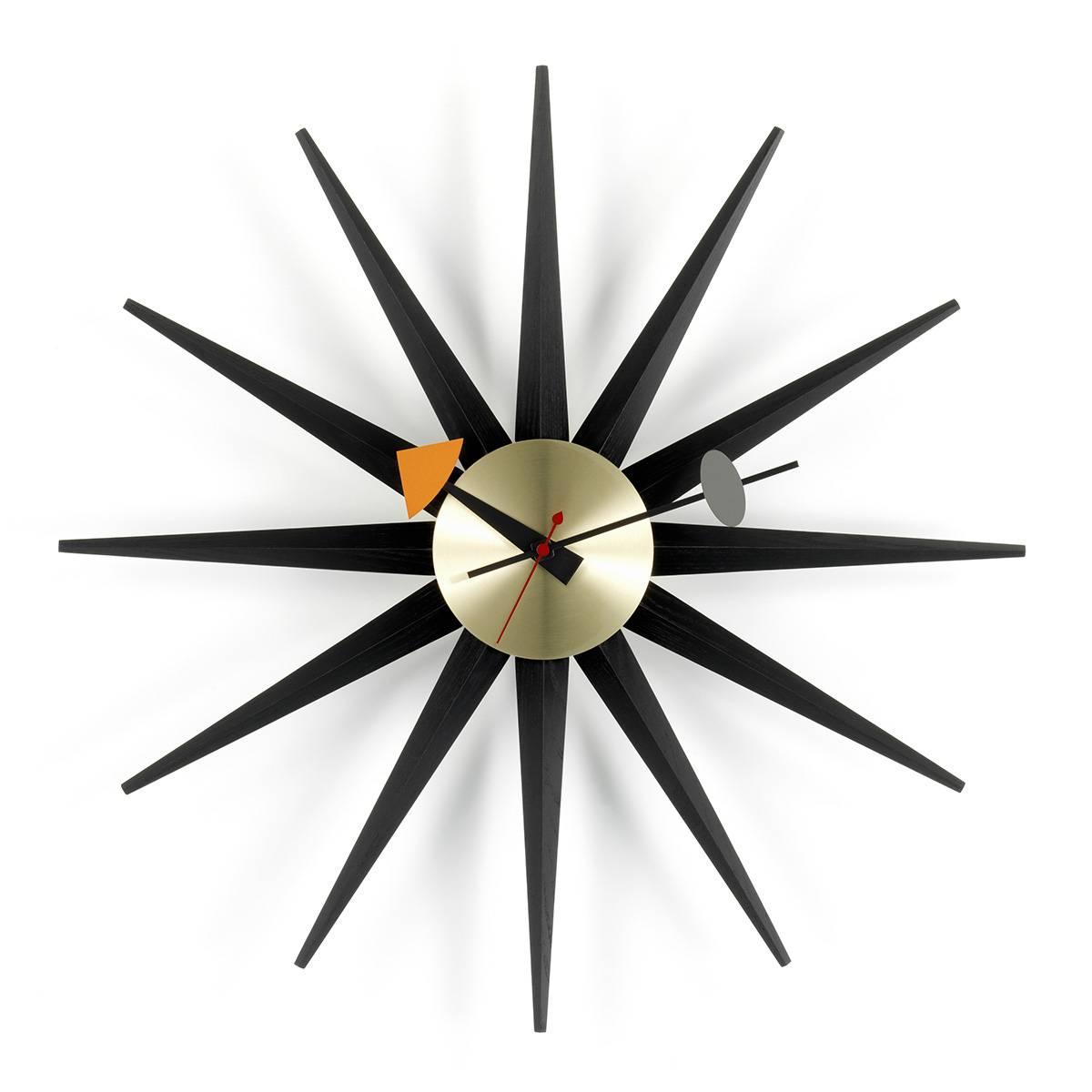Sunburst Clock sort/messing Vitra