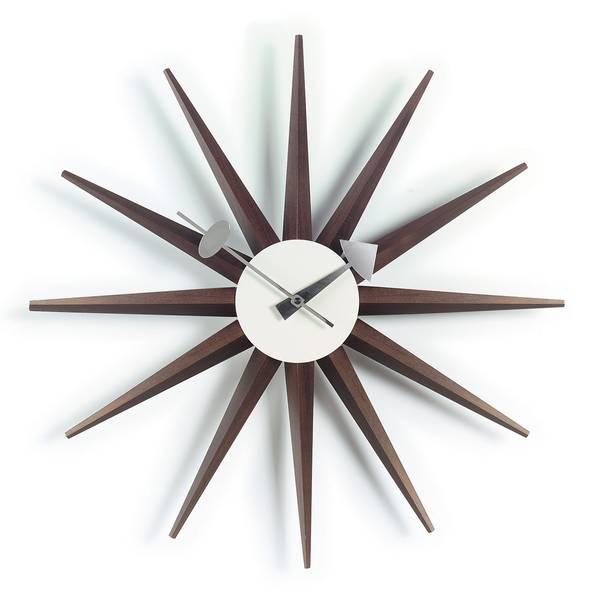 Bilde av Sunburst Clock valnøtt Vitra