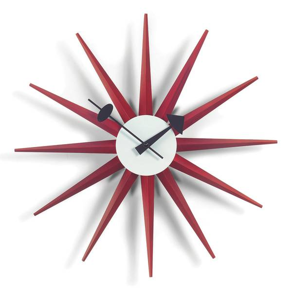 Bilde av Sunburst Clock rød Vitra