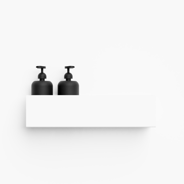 Bilde av Bath shelf 40 hvit Nichba