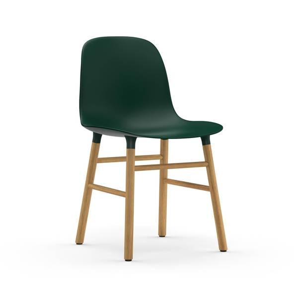 Bilde av Form Stol Grønn/Eik Normann