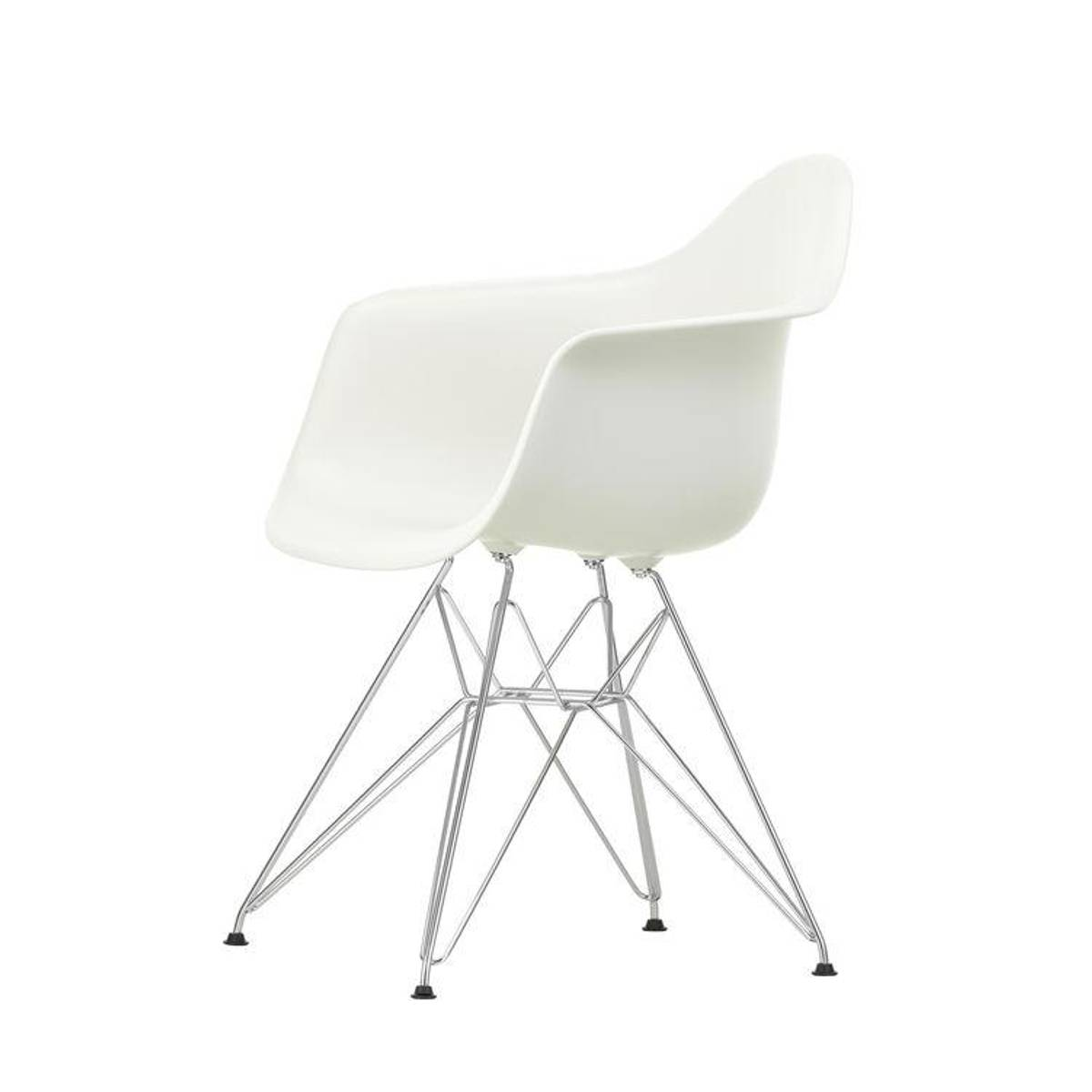 Eames Plastic Armchair DAR 04 White m/chrome 01 base Vitra