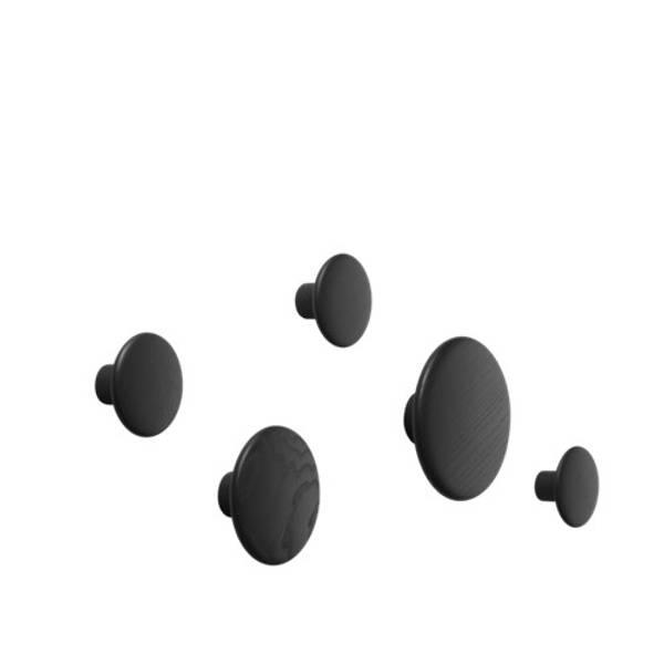 Bilde av The Dots Knagg/ set of 5 sort