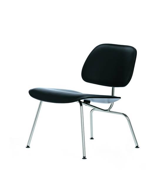Bilde av LCM Lounge Chair Sort/Skinn