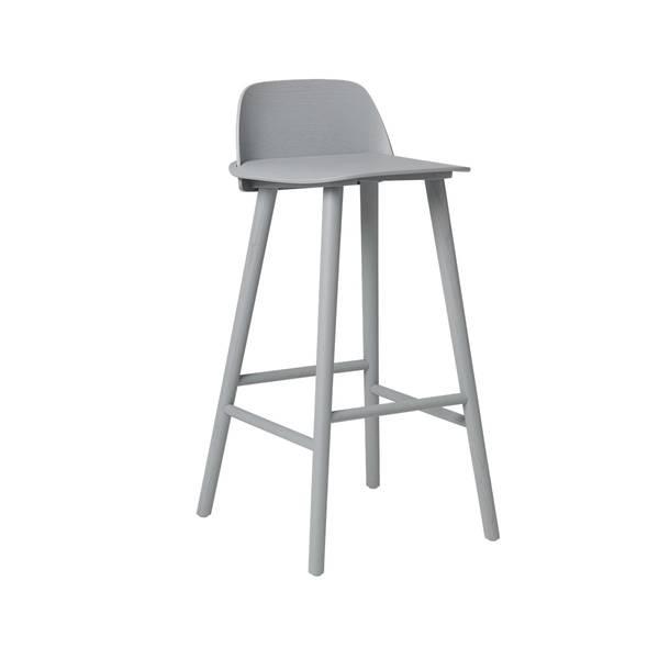 Bilde av Nerd barstol HØY H75 grå
