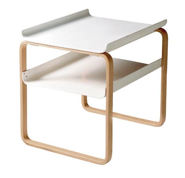 Bilde av Side Table 915 hvit/ bjørk