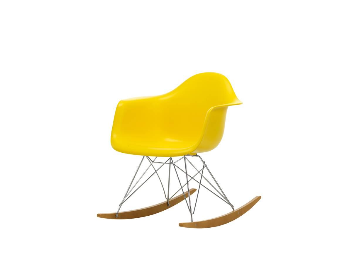 Eames Plastic Armchair RAR hvit m/ chrome, base lys lønnx Vitra