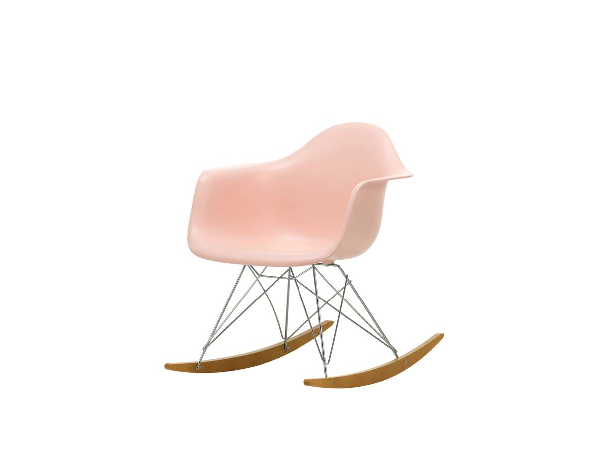 Eames Plastic Armchair RAR sort m/ chrome base, lys lønnx Vitra