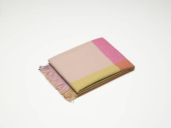 Bilde av Color block Blanket rosa/