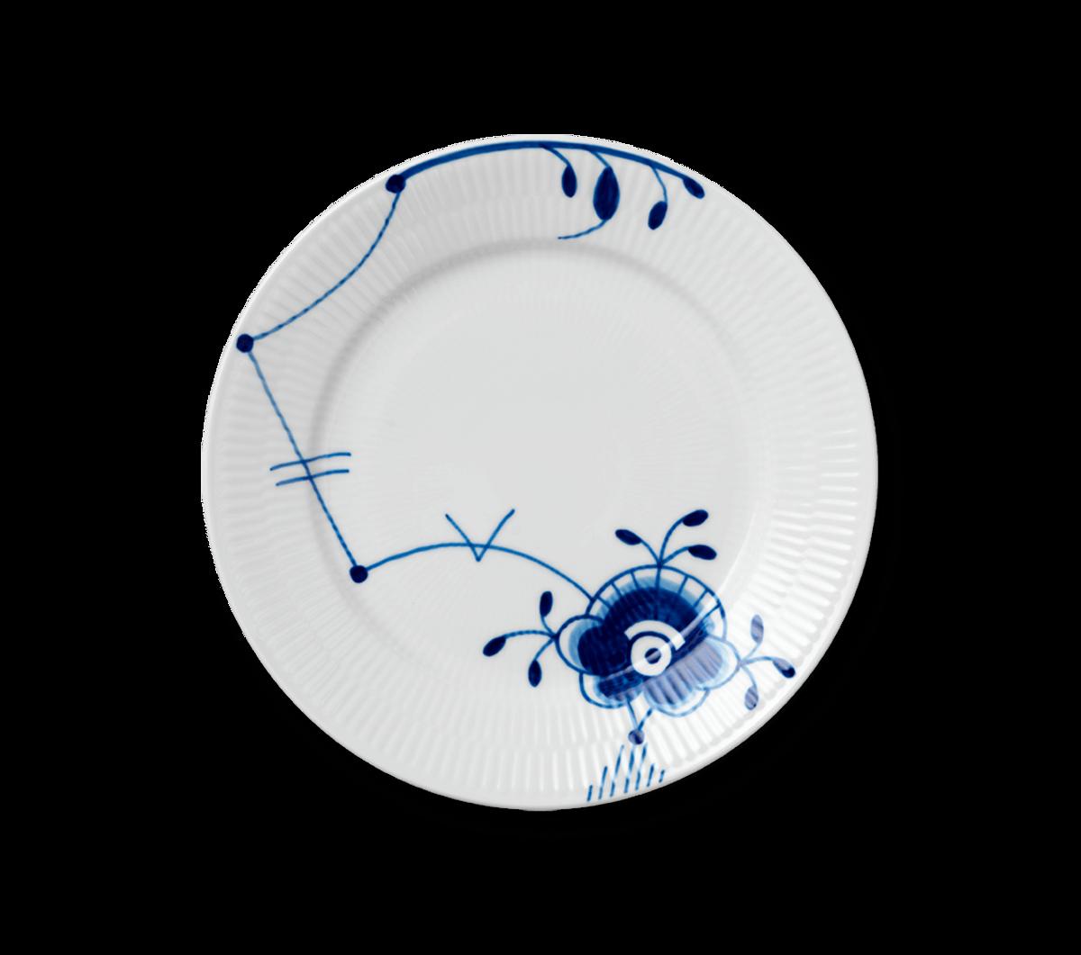 Blå Mega Riflet tallerken 22 cm nr. 6