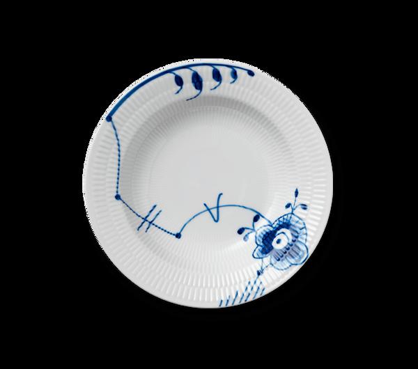 Bilde av Blå Mega Riflet dyp tallerken