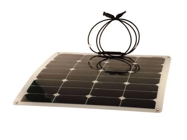 Bilde av Solcellepakke 50W semi-flexibelt for Bobil og Båt