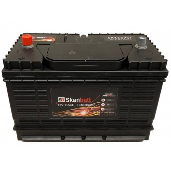 Bilde av Fritidsbatteri 115At 12V Skanbatt