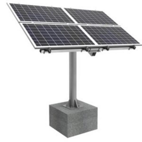 Bilde av Frittstående pålefeste for 4 solcellepaneler