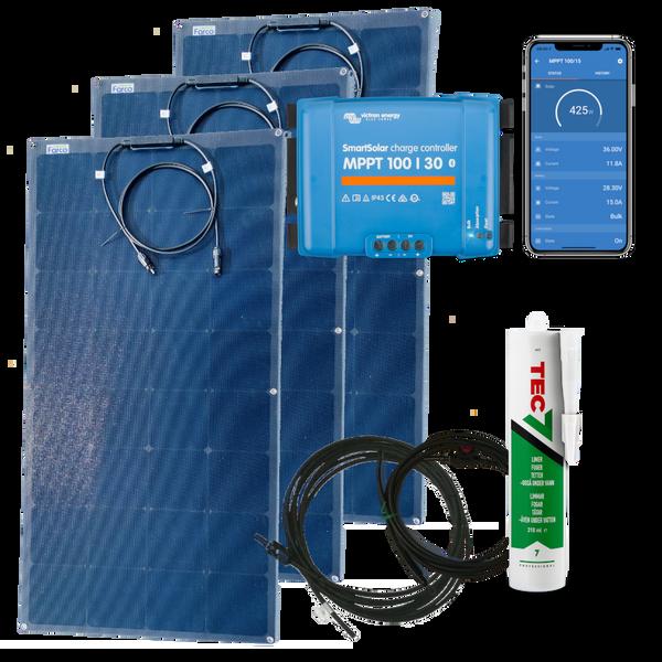 Bilde av Solcellepakke 450W Båt og Bobil Flexi Robust ETFE