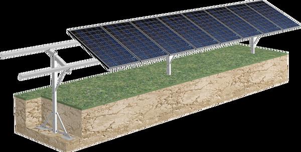 Bilde av Frittstående festesystem for 5x300W Solcellepaneler