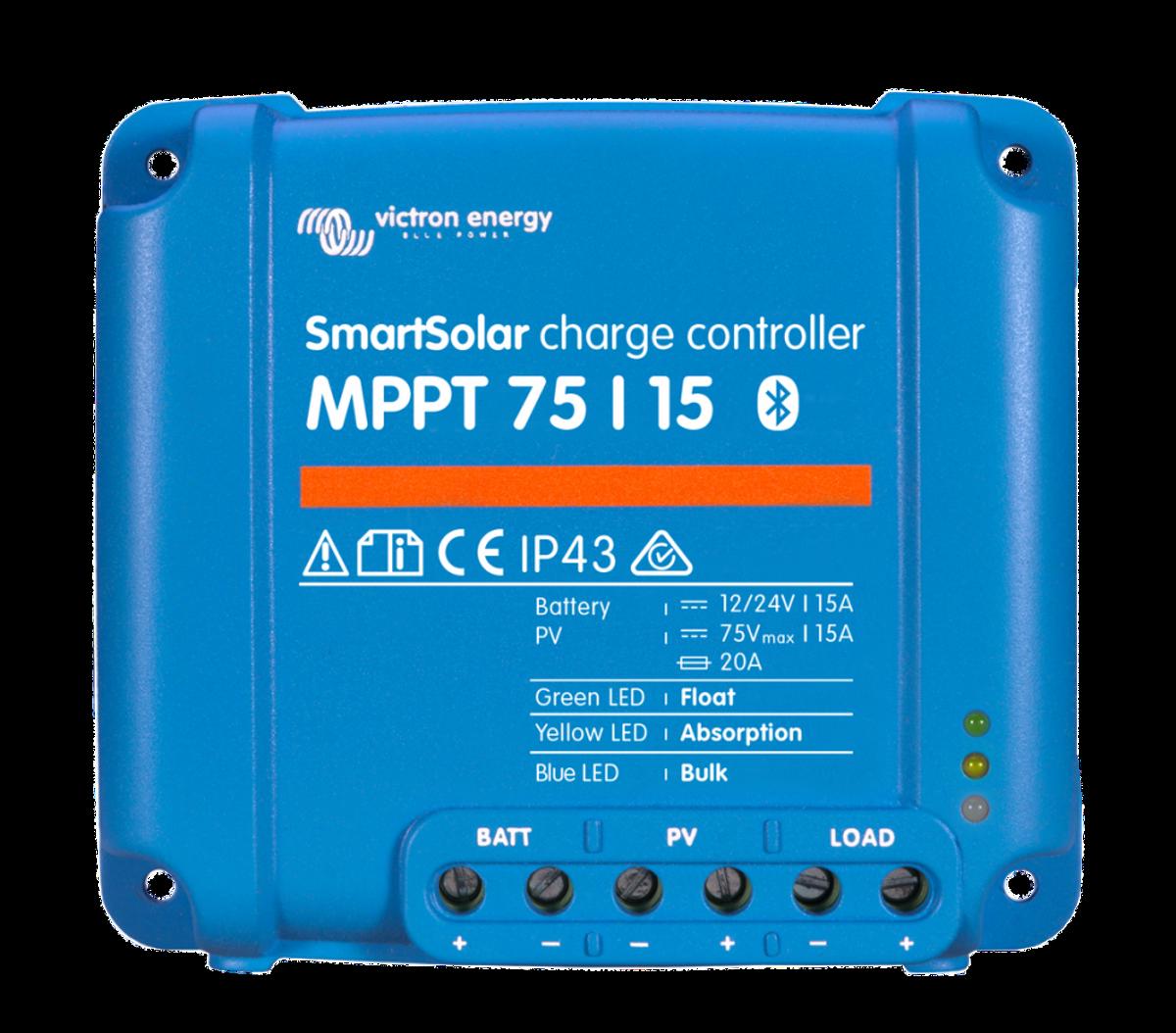 15A Victron SmartSolar MPPT 75/15 blåtann