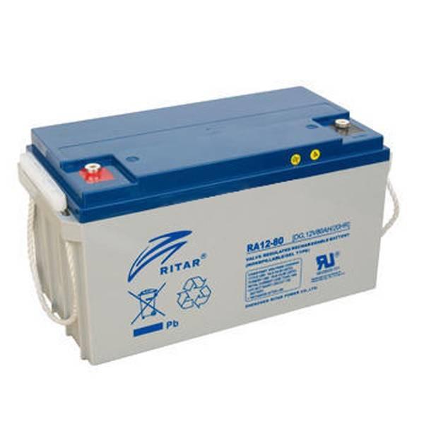 Bilde av Ritar Deep Cycle Gel-Batteri 80Ah