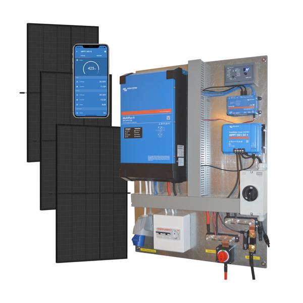 Bilde av Kraftpakke 230V 3kW + 1150W Solceller - Tavle
