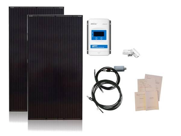 Bilde av Solcellepakke Hytte 370W (2x185W) Premium