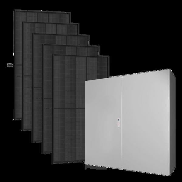 Bilde av Kraftpakke 230V 5kW + 1925W solceller - Skap