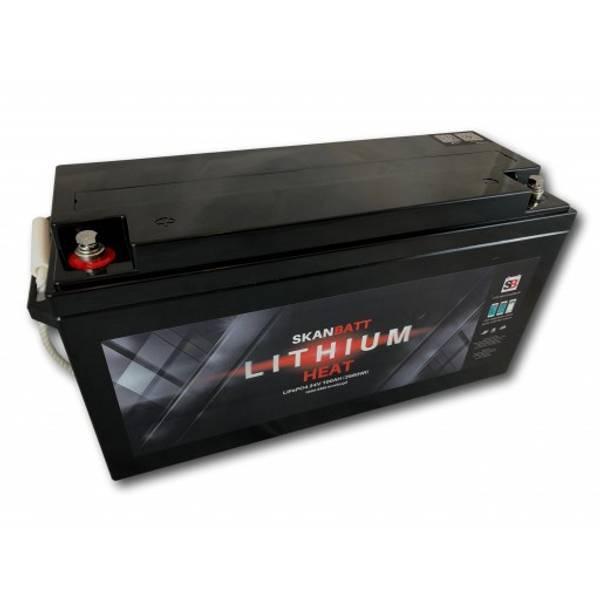 Bilde av Litiumbatteri 24Volt 100At Heat Blåtann - 100A BMS
