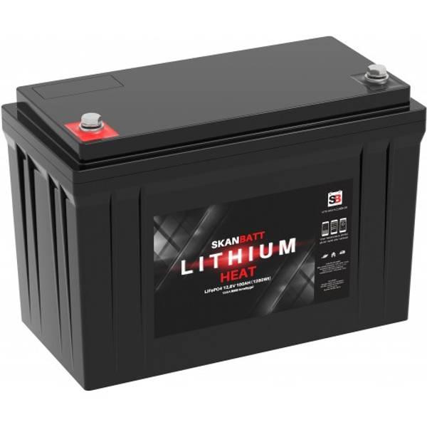 Bilde av Litiumbatteri 100At Heat Pro Blåtann - 100A BMS