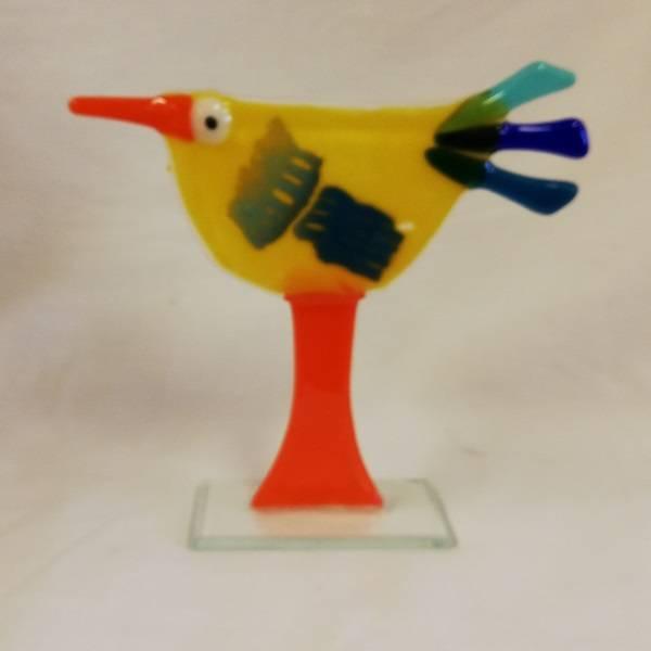 Bilde av Håndlaget høne i glass, 002