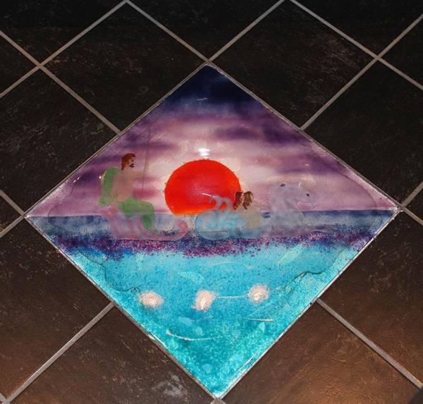 Bilde av Glassbilde gulvflis
