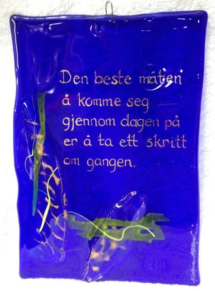 Bilde av Hustavle i glass, Den beste måten..