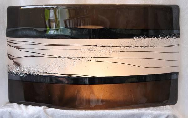 Bilde av Håndlaget vegglampe stor sort/klar