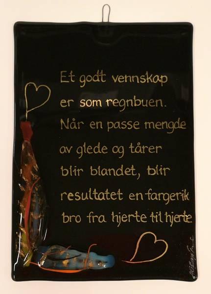 Bilde av Hustavle i glass, Et godt vennskap..