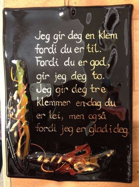 Bilde av Hustavle i glass, Jeg gir deg..